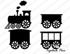 Train SVG, PNG Cut Files for use with Silhouette Studio, Cricut, Cutting Machines, scrapbooking, vinyl,stencil template, t-shirt design