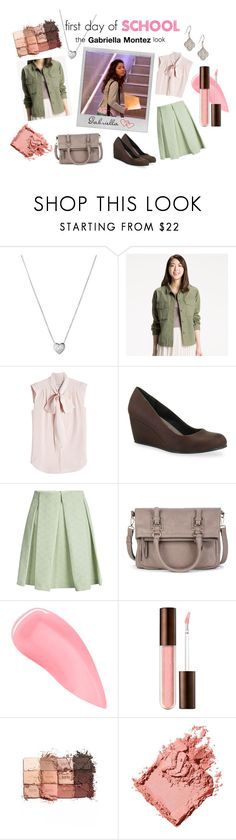 """""""High School Musical - Gabriella's First Day of School"""" by sky-studios ❤ liked on Polyvore featuring Links of London, Uniqlo, MaxMara, Jellypop, Polaroid, See by Chloé, Sole Society, Kevyn Aucoin, tarte and Bobbi Brown Cosmetics"""