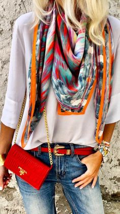 Accessoire is the key. Mode Boho, Mode Chic, Mode Style, Mode Outfits, Chic Outfits, Fashion Outfits, Fashion Trends, Spring Summer Fashion, Spring Outfits