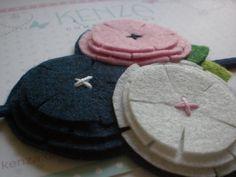 Diademas - Diadema de flores ref:018 - hecho a mano por KENZA-COMPLEMENTOS en DaWanda