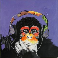 Paintings :: DJ Purple Monkey - Look Beyond. Enjoy Art