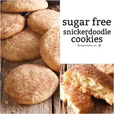 How to Make YUMMY Sugar Free Snickerdoodle Cookies - Zuckerfreie Kekse Sugar Free Deserts, Sugar Free Snacks, Sugar Free Baking, Sugar Free Sweets, Sugar Free Cookies, Sugar Free Recipes, Cake Cookies, Cupcakes, Diabetic Cookies