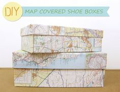 Wear The Canvas: DIY Map Covered Box