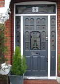 Edwardian style glass panelled front door