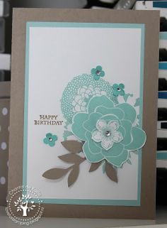 Love for Stamping - Simple Stems, Petal Parade, Petite Petals, Postage Collection, SU-per Challenges 28
