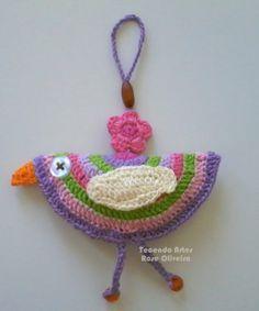 Tecendo Artes - Birds Decor - Enfeite de Parede Crochet Earrings, Crochet Hats, Appliques, Jewelry, Color Combos, Crochet Ideas, Crochet Stitches, Finding Nemo, Farmhouse Rugs