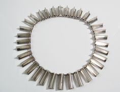 Rare necklace designed by Arno Malinowski for Georg Jensen Denmark c.1960 Design no 118