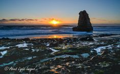 Davenport Beach Sunset. Coastal Collection, Coastal and Seascape photographic Images from the Pacific Coast of California - About Light Images