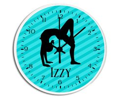 """Your child will love their very own personalized Cheerleader clock. Our 10"""" diameter unique Wall Clock features a high-impact plexiglass crystal face and a backside hook for easy hanging. Choose black, white, or a natural wood frame. Clock sits 1.75"""" deep and requires 1 AA battery (not included). The perfect monogrammed and customizable gift for your daughter, son, family, loved one or yourself!"""