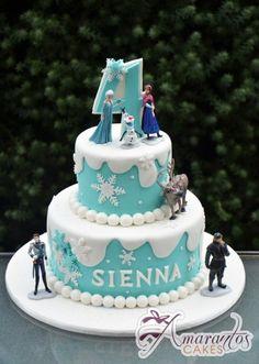 Two tier Frozen Cake – AC275 – 1st Birthday Cakes Melbourne – Amarantos Cakes