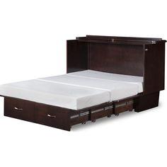 atlantic furniture deerfield queen storage murphy bed