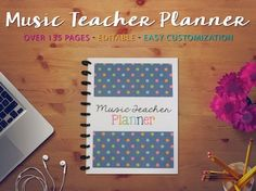 The ultimate editable music teacher planner and binder set. Plus, the calendars are updated every year, meaning one purchase can last several years! Music Lesson Plans, Music Lessons, Piano Lessons, Music Room Organization, Classroom Organization, Classroom Management, Teacher Planner, Teacher Binder, Music Classroom