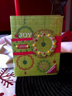 I LOVE LOVE LOVE this paper... but it was kinda hard to do a card out of... the circle is popped out and decorated with mini glitter brads (I used We R Memory Keeper's Brad Setter - the most amazing little tool ever!)