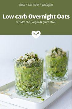 Hast du Lust auf eine Superfood Bombe zum Frühstück, die sich am Vortag super einfach vorbereiten lässt, genial schmeckt und zudem die Verdauung fördert? Das low carb Overnight Oats mit Matcha (vegan und natürlich glutenfrei) Rezept findest du ab sofort auf www.kochmitherz.com/blog 😋 Overnight Oats, Matcha, Low Carb Meal, Ab Sofort, New Green, Vegan, Superfood, Healthy Lifestyle, Brunch