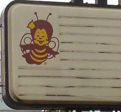 I remember this restaurant chain as a kid in Louisville, KY.  This was their mascot on the sign.  Restaurant chain was Burger Queen.