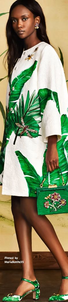 Dolce and Gabbana Summer-2016 Banana Leaf Print Collection Highlights