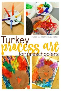 Colorful Turkey Art Activity That Focuses on the Process
