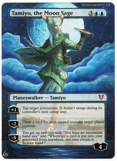 Tamiyo by FZ Magic: The Gathering cards Altered Art