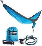 Amazon.com: Neolite Trek Camping Hammock - Lightweight Portable Nylon Parachute Hammock for Backpacking, Travel, Beach, Yard. Hammock Straps & Steel Carabiners Included: Sports & Outdoors