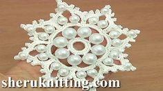 Ciondolo Uncinetto con perle Here you can find crochet snowflake ornament, crochet snowflake motif, crochet beaded snowflake, crochet motifs with beads, crochet embellishment. Crochet Snowflake Pattern, Crochet Motifs, Crochet Snowflakes, Snowflake Ornaments, Bead Crochet, Irish Crochet, Crochet Patterns, Beaded Snowflake, Crochet Ornaments