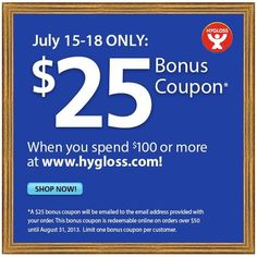 Today through July 18 only - place a Hygloss order totaling $100 or more, and we will email a $25 Bonus #Coupon to you reedemable all summer! Click for details. #crafts