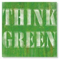 Think Green Art Print……réepinglé par Maurie Daboux ♪ ♪ Mean Green, Go Green, Green Grass, Green Eyes, World Of Color, Color Of Life, Green Art, Green Colors, Green Life