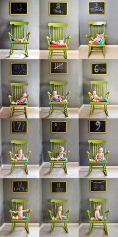 Mamá sin cobertura: Ideas para fotografiar a tu bebé mes a mes...
