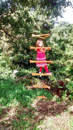DIY Tutorial Wooden Monkey Bars climber play by Wiwiurka on Etsy