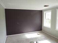 Grey Purple Guest Bedroom