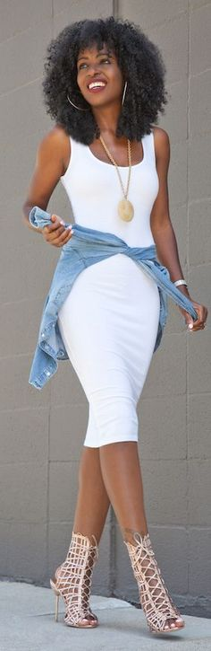 White Tank Bodycon Dress
