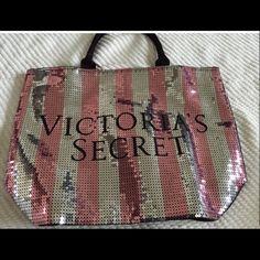Victoria's Secret Bling Black Friday Sequin Tote NWT weekender bag Victoria's Secret Bags Totes