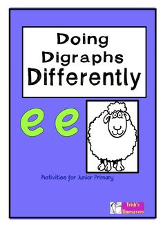 Doing Digraphs Differently 'ee' is full of activities to learn then become proficient using the 'ee' family sound.
