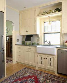 Note: sink under low window   bungalow kitchen low window - Google Search