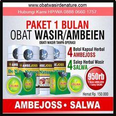 Obat Herbal Ambejoss & Salep Salwa DE NATURE Untuk Solusi Penyakit: - Wasir - Ambeien - BAB Sakit - BAB Berdarah - Benjolan Di Anus - Susah BAB - Anus Sakit / Perih / Panas - Dan berbagai keluhan wasir / ambeien lainnya. Herbalism, Herbal Medicine