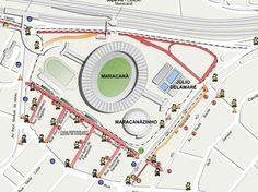 maracanã - mapa