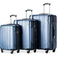 Merax 3 Piece P.T Luggage Set Eco-friendly Light Weight Spinner Suitcase Suitcase Set, Spinner Suitcase, Best Luggage, Luggage Sets, Luggage Packing, Hand Luggage, Travel Luggage, Top Gifts, Best Gifts
