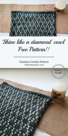 A free, beginner friendly, Tunisian crochet pattern for a cowl that is made using two stitches: Tunisian Knit Stitch and Reverse Stitch. Crochet Round, Free Crochet, Knit Crochet, Crochet Ideas, Beginner Crochet, Crochet Granny, Crochet Crafts, Crochet Projects, Tunisian Crochet Patterns