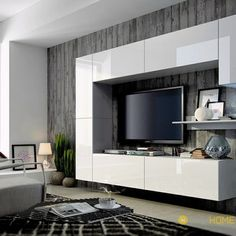 The best catalogue for modern TV cabinet designs and TV wall units design ideas for living room interior walls, with expert tips on how to choose these tv wall cabinets in your modern home of 2019 - 2020 Bedroom Tv Cabinet, Armoire Tv, Tv In Bedroom, Modern Tv Cabinet, Tv Cabinet Design, Wall Unit Designs, Tv Unit Design, Living Room Bedroom, Living Room Furniture