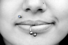 I like the dainty nose piercing, and the monroe piercing isn't bad either ;D