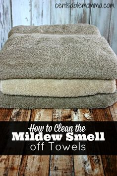 Do you have sour smelling mildewy towels? Use this easy trick to get them smelling fresh again. Just use distilled white vinegar in the wash cycle. Cleaning Mold, House Cleaning Tips, Diy Cleaning Products, Cleaning Solutions, Spring Cleaning, Cleaning Hacks, Cleaning Supplies, Diy Products, Cleaning Recipes