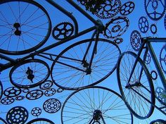 Cool bicycle sculpture