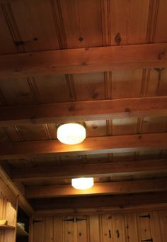 Cleaning knotty pine. Similar to Century ceiling.