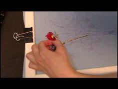 Вышивка лентами для начинающих. Вышивка Астры. Способ №2 - YouTube