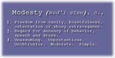 Modesty & Christianity