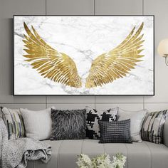 Luxurious Golden Wings On Marble Background Wall Art Fine Art Canvas Prints Glamorous Pictures For Living Room Bedroom Home Decor arts Kunst Malen Foto photos Leaf Wall Art, Abstract Wall Art, Canvas Wall Art, Canvas Prints, Diy Canvas, Painting Abstract, Acrylic Paintings, Marble Painting, Abstract Portrait