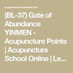 (BL-37) Gate of Abundance YINMEN - Acupuncture Points   Acupuncture School Online   Learning Acupuncture and Moxibustion Courses Online