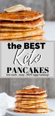 Keto Pancake Recipe - This is one of the most popular recipes from my site. I get so many positive r Keto Cream Cheese Pancakes, Best Keto Pancakes, Pancake Recipe Taste, Pancake Recipes, Bread Recipes, Crockpot Recipes, Keto Diet Breakfast, Breakfast Recipes, Breakfast Biscuits