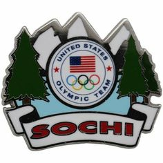 USA 2014 Winter Olympics Sochi Mountain Background Pin...didn't know where else to pin this lol! I collect pins, and want this one ;-)!