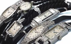Beautiful selection of vintage ladies watches.
