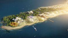 Zira Island_Masterplan Walden Two, Space Colony, Acre, Island, Mountains, City, Travel, Viajes, Islands